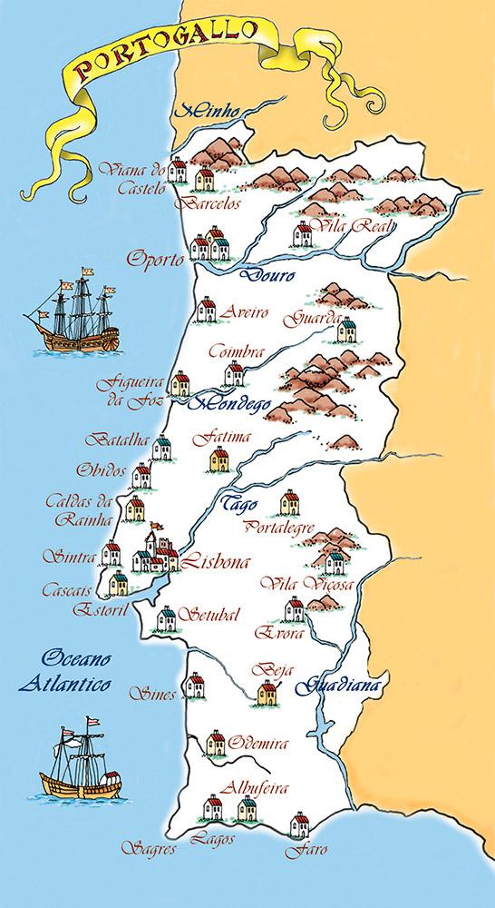 Cartina Di Portogallo.Portogallo Cartina