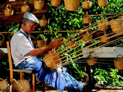 Handicraft, a small basket