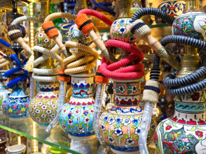 Bright colorful hookahs in the Grand Bazaar