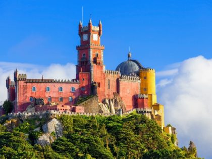 Panorama of Pena National Palace in Sintra
