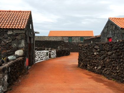 Typical village of the Azores, island Pico