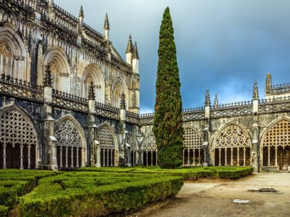 Internal yard of Batalha Dominican medieval monastery